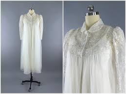 wedding peignoir sets vintage 1960s peignoir set robe and nightgown 60s wedding