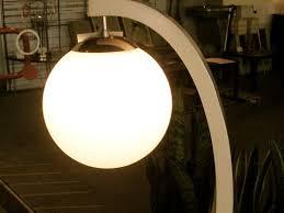 Globe Table Lamp Metro Modern Wood And Chrome Globe Table Lamp