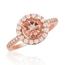 le vian morganite 14k gold gemstone and diamond