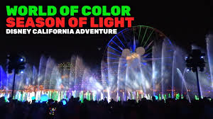 world of color season of light world of color season of light new full show for christmas 2016 at