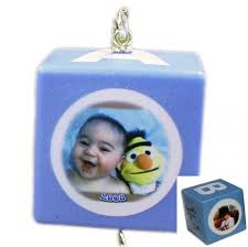 personalized baby block ornament baby block photo ornaments blue personalized baby block photo