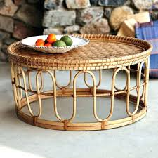 round rattan side table round wicker coffee table round rattan coffee table cocktail outdoor