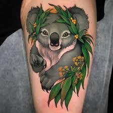 koala u0026 leaves u2013 tattoo by crispy lennox january 2018 u2013 pain magazine