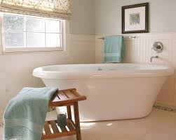 Wainscoting In Bathroom by Bathroom With Pastel Walls And Beadboard Wainscoting Popular