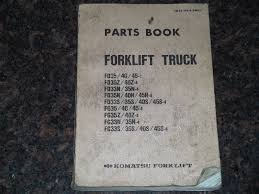 komatsu fd fg series forklift parts book manual u2022 44 99 picclick