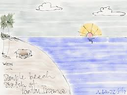 the reader how to draw a beach scene