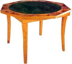 octagonal wooden poker table with folding legs drinkstuff