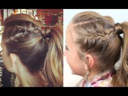 cute girl hairstyles how to french braid double french into high ponytail tutorial 5 min by