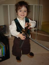 diy kids halloween costumes pinterest toddler in a diy frodo lord of the rings bilbo baggins hobbit