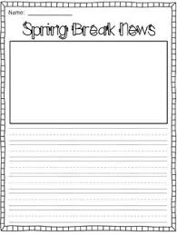 free spring quick write foldable fun prompts first grade writing