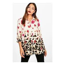 oversized blouse leopard floral oversized shirt from boohoo at shop com