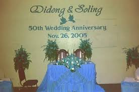 wedding anniversary backdrop didong silong 50th wedding anniversary backdrops carvings
