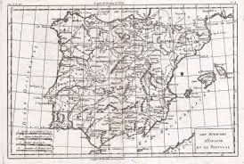 Spain And Portugal Map by File 1780 Raynal And Bonne Map Of Spain And Portugal