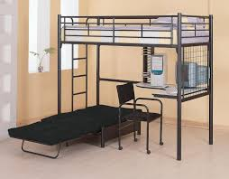 bedroom modern white polished iron bunk bed which furnished with