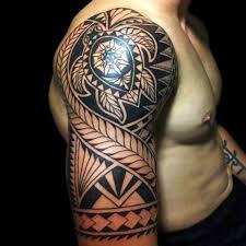 tribal tattoos half sleeve tattooic