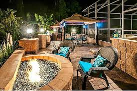 Gazebo Fire Pit by Traditional Patio With Exterior Tile Floors U0026 Fire Pit In Palm