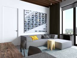 glamorous open concept apartment design living room architectural