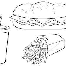 eat healthy food avoid junk food coloring page eat healthy food