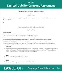 Sample Roommate Contract Operating Agreement Template For Llc Best Business Template