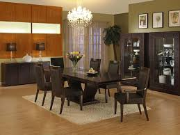 nice black white painted white color completed modern dining room