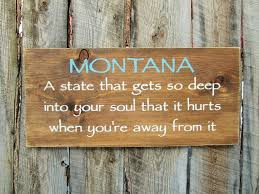 montana home decor rustic home decor rustic montana sign montana by bearlyinmontana