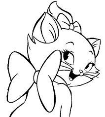 aristocats beautiful smile marie coloring pages bulk color