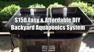 Easy  Affordable DIY Backyard Aquaponics System Off Grid World - Backyard aquaponics system design