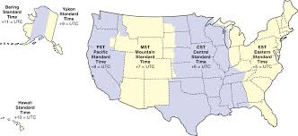 United States Time Zone Map by 100 Pacific Time Zone Map What Are The U S Time Zones