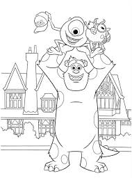 sulley coloring page 45 best coloring pages disney pixar images on pinterest