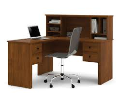 Metal Computer Desk With Hutch by Bestar Somerville L Desk With Hutch