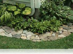 10 garden edging ideas with bricks and rocks flagstone cottage