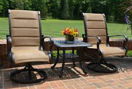 the leda collection 2 person cast aluminum patio furniture high back