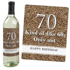 halloween wine bottle labels amazon com 70th birthday gold wine bottle labels