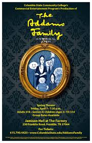 columbia thanksgiving break the addams family a new musical comedy presented by columbia