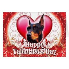 valentines day doberman cards greeting photo cards zazzle