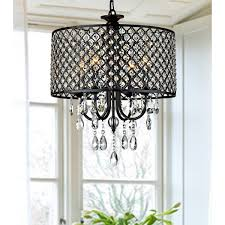 Antique Crystal Chandelier Antique Black 4 Light Round Crystal Chandelier Free Shipping