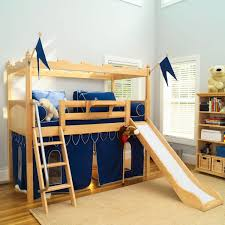 Build Loft Bed With Slide by Marvelous Fun Bunk Beds With Sweet Slide Beside Wood Stair On Nice