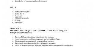 Billing Clerk Resume Sample by Medical Records Clerk Resume Resume Templates Legal Billing Clerk