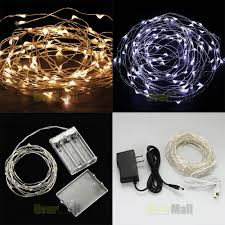 led christmas lights warm vs cool warm cool white rgb 2m 3m 10m led copper wire led string fairy