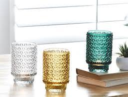 morgan u0026 finch diamond footed tealight holders the block shop