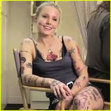 kristen bell tattoo video for funny or die kristen bell video