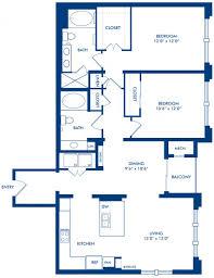 Blueprint Floor Plan 1 2 U0026 3 Bedroom Apartments In Houston Tx Camden Post Oak