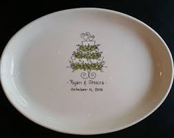 personalized ceramic wedding plates wedding platters etsy