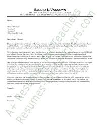 teaching position cover letter sample application letter for