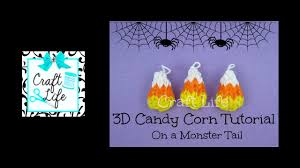 craft life 3d mini candy corn charm tutorial on a rainbow loom