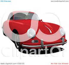 porsche front view clipart red porsche 356 car front view royalty free vector