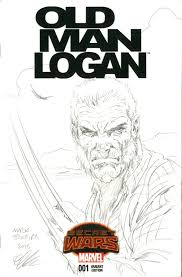 wolverine old man logan pencil sketch signed mark texeira in