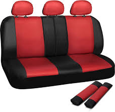 pink and black cars amazon com oxgord 17pc pu leather red black car seat cover set