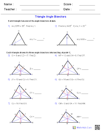 triangle sum and exterior angle th web art gallery worksheet