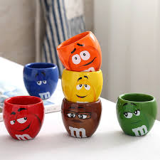 gift mugs with candy m m s chocolate candy mugs cups 100ml mini ceramics coffee